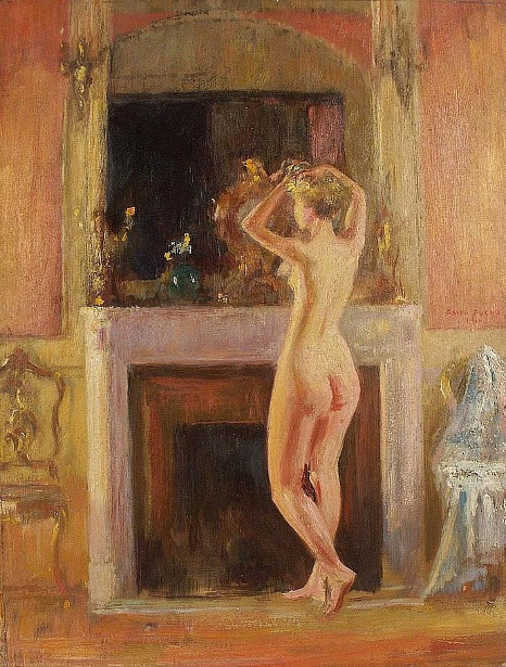 Nude Before Mantle