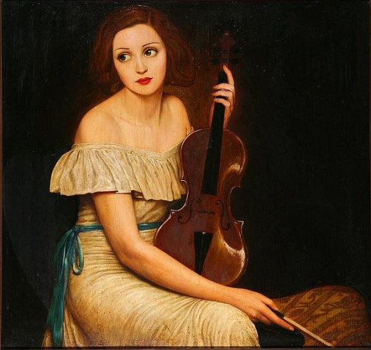 Seated Woman With Violin