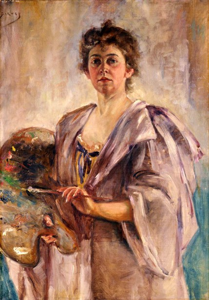 Self Portrait In Painting Robe