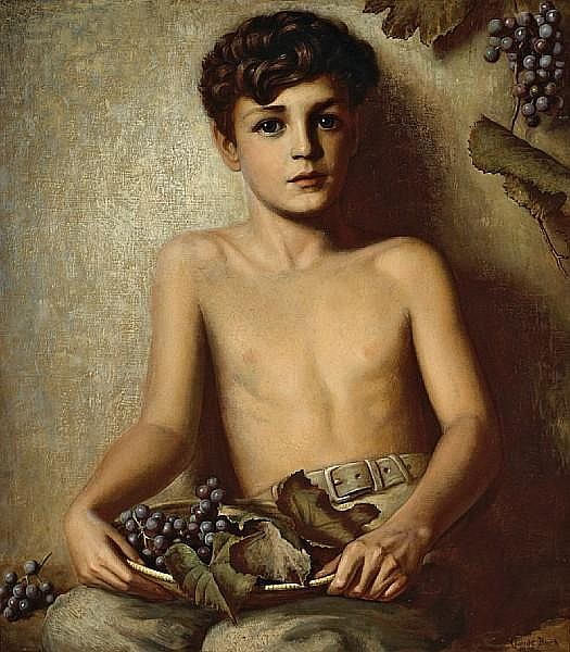 Young Boy With Grapes