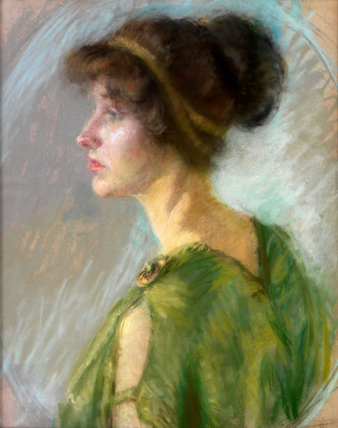 Young Woman In Green