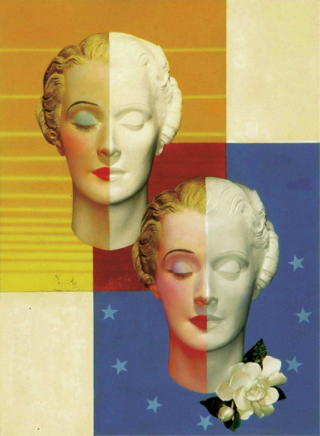 A Pair Of Art Deco Heads