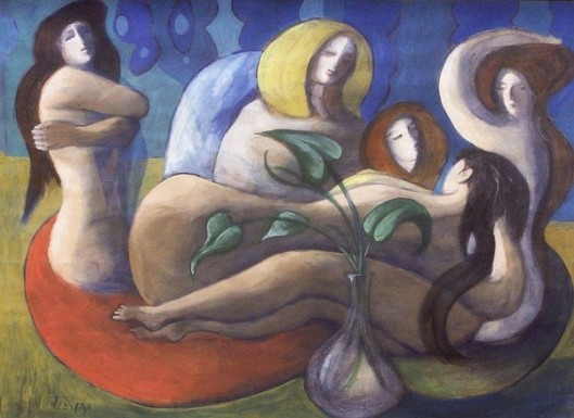 Group Of Reclining Nudes