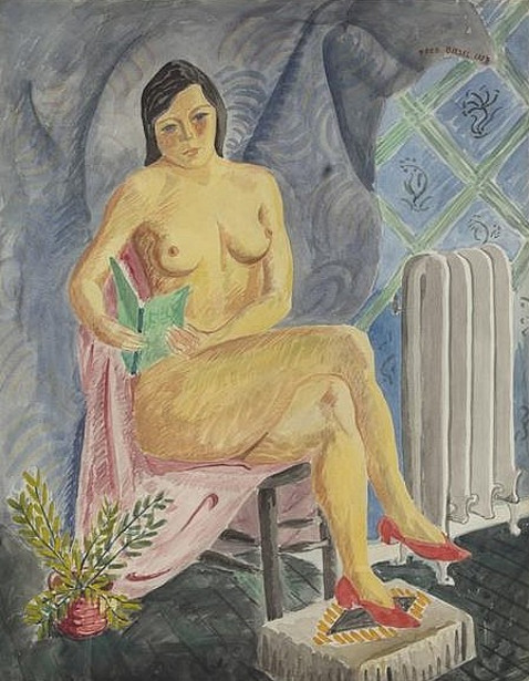 Nude With Red Shoes