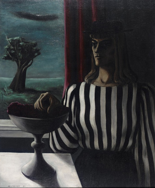 Self Portrait, The Striped Blouse
