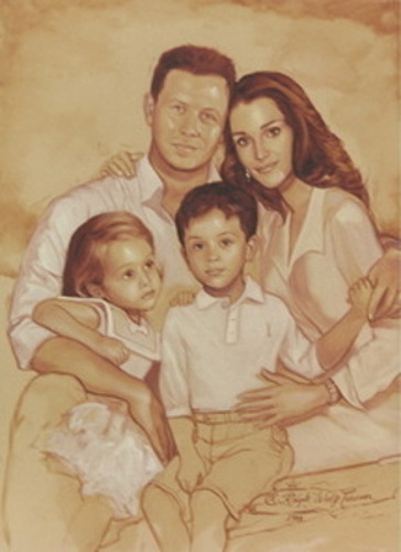 Their Majesties King Abdullah And Queen Rania And Family Of Jordan