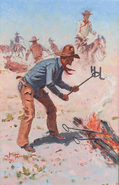 Cowboys Branding The Herd
