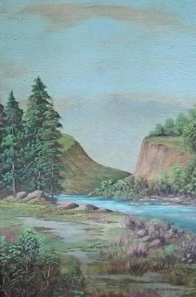 Landscape River Scene