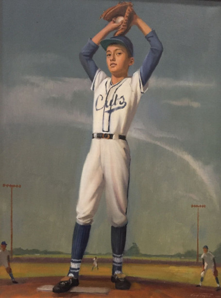 Little Leaguer In Chicago Cubs Uniform