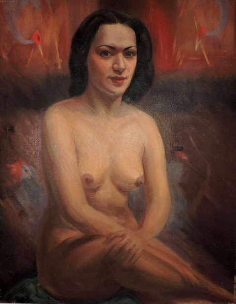 Nude Brunette Woman