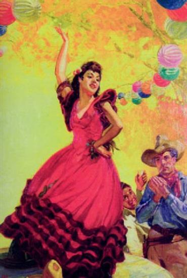 Señorita Doing Mexican Hat Dance