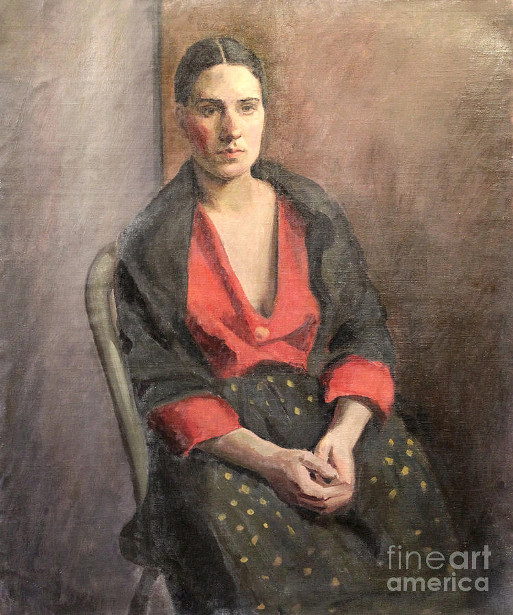Woman With Red Blouse
