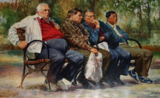 Men On The Park Bench