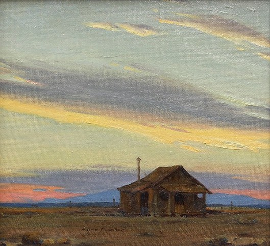 Miner's Cabin At Sunset