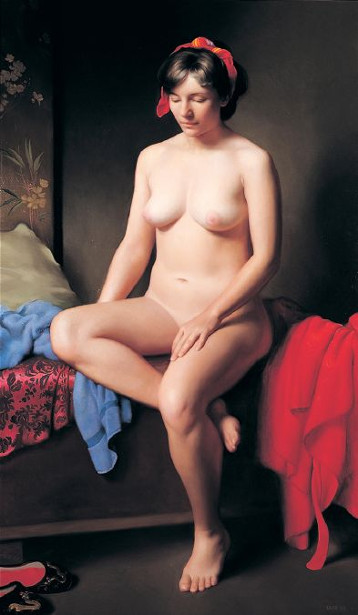 Nude With Red Robe
