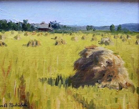 Oatfield In Harvest