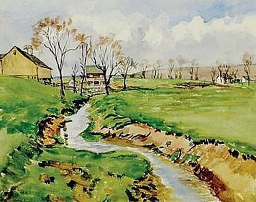 Georgia Farm Scene