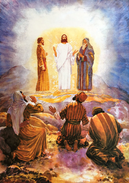 Jesus And Three Disciples On The Mountain