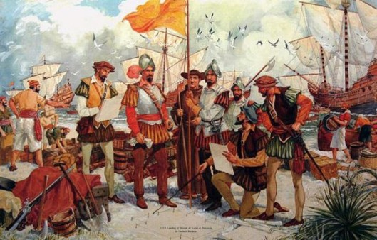 Landing Of Tristan de Luna At Pensacola, 1559
