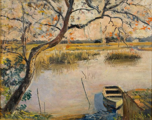 Marsh Scene With Boat