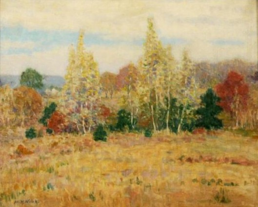 Autumn Woodland Landscape
