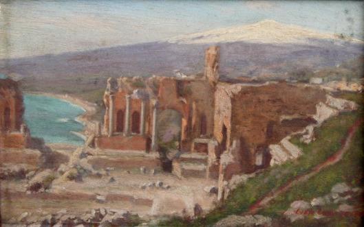 Greek Theatre At Taormina In Sicily