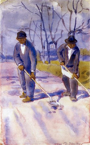 Negroes Shoveling