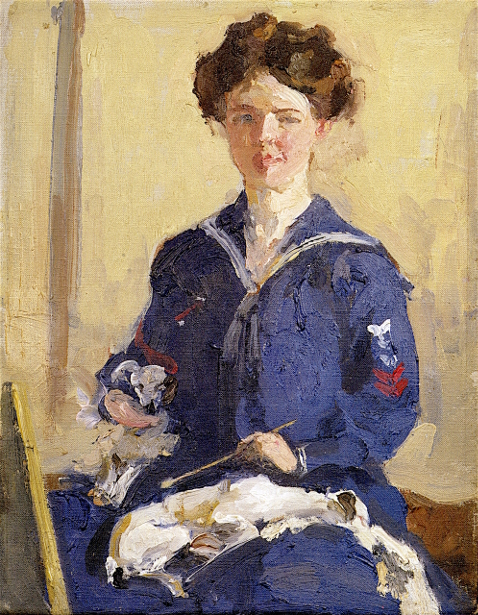 Self Portrait In Navy Dress