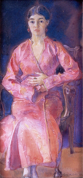 The Turkish Robe - Frances  Forbes, The Artist's Niece
