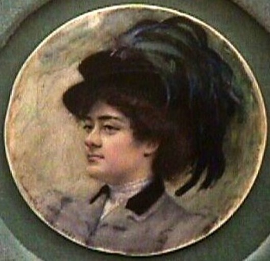 Woman With Feathered Hat