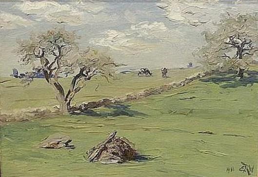Pastoral New England Landscape