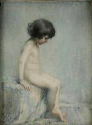 Seated Nude Child