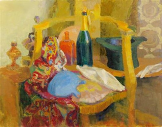 Still Life With Golden Chair